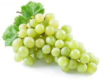 Bunch of white grapes on the white. Stock Photography