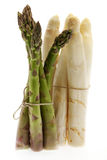 Bunch white and green asparagus Stock Photo