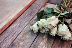 A bunch of white roses Royalty Free Stock Photography