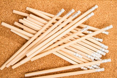Bunch of wooden pencils Stock Images