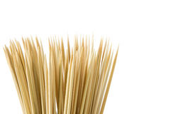 Bunch of wooden skewers Royalty Free Stock Photo