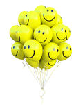 Bunch of yellow balloons smiling Royalty Free Stock Image