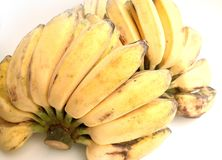 A bunch yellow banana Nipah fruits stock photos
