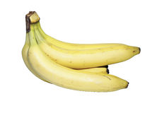 Bunch of yellow bananas isolated Royalty Free Stock Photos