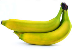 Bunch of yellow bananas is isolated Royalty Free Stock Images