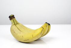 Bunch of yellow bananas on white background Stock Photos