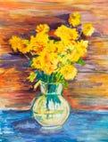 Bunch of yellow flowers Stock Photo