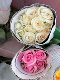 Bunch of yellow and pink roses Stock Image