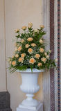 Bunch of yellow roses. Composition of yellow roses in a white vase Stock Images