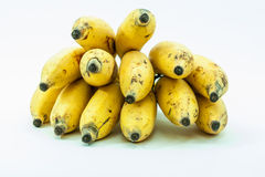 Bunch of yellow small banana fruit. Of kerala india Stock Photo
