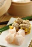 buncha中国dimsum食物 库存照片