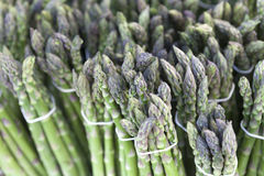 Bunched Green Asparagus on Display Stock Photo
