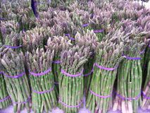 Bunches of Asparagus. At a Farmer's Market stock photo