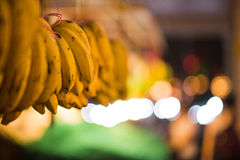 Bunches of bananas in market Stock Photography