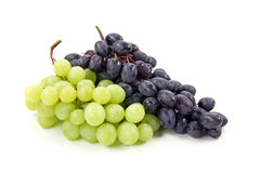 Bunches  of black and green grapes Stock Image