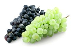 Bunches of black and green grapes Royalty Free Stock Photos