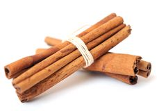 Bunches of cinnamon Stock Photo