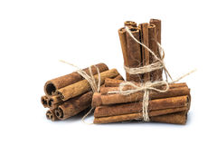 Bunches of cinnamon sticks Stock Photos