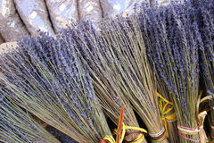 Bunches of dried lavender flowers for sale in Aix En Provence Stock Photography