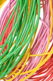 Bunches of electrical colors wires Stock Photography