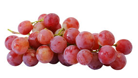 Bunches of fresh red grapes Stock Image