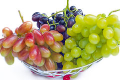 Bunches of grapes on a white background Royalty Free Stock Image