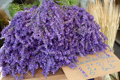 Bunches of lavender flowers for sale, France, Provence. Royalty Free Stock Image