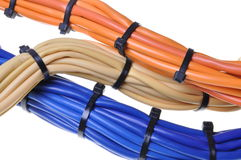 Bunches of network cables Royalty Free Stock Photos