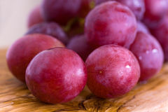 Bunches of purple ripe grape Royalty Free Stock Image