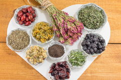 Bunches of raw herbal tea royalty free stock image
