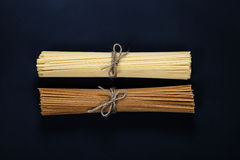 Bunches of spaghetti Stock Images