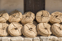 Bunches of straw rope Royalty Free Stock Images