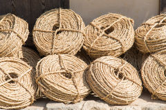 Bunches of straw rope Stock Photos
