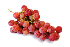 Bunches of Summer fresh red grape. With white isolate background Stock Images