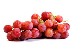 Bunches of Summer fresh red grape. With white isolate background Royalty Free Stock Photos