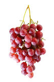 Bunches of Summer fresh red grape. With white isolate background Stock Photo