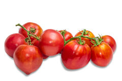 Bunches of tomatoes Stock Photo