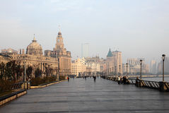 Bund à Changhaï, Chine Image libre de droits