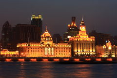 The bund. These buildings are located in The Bund of Shanghai Stock Images