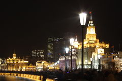 The bund across the eve of the crowd Royalty Free Stock Images