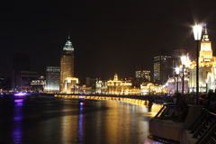 The bund across the eve of the crowd Royalty Free Stock Photography