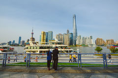 The Bund area in Shanghai, China Stock Image
