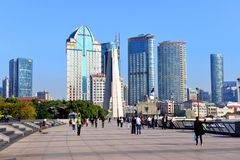 The Bund area of Shanghai Stock Images