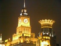 Bund den finansiella mitten och det eget huset i Shanghai Royaltyfri Foto