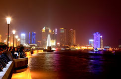 The Bund district along Huangpu River in Shanghai Royalty Free Stock Photos
