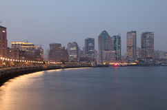 The Bund at dusk, Shanghai Royalty Free Stock Images