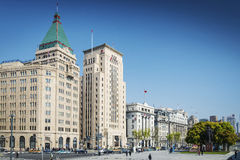 Bund european heritage riverside landmark area of shanghai china Royalty Free Stock Images