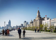 Bund european heritage riverside landmark area of shanghai china Stock Photos
