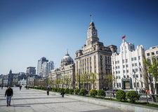 Bund european heritage riverside landmark area of shanghai china Stock Photo