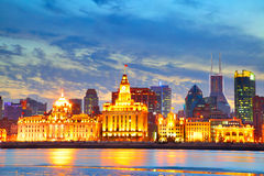 The Bund. Famous waterfront area in central Shanghai, China Royalty Free Stock Images